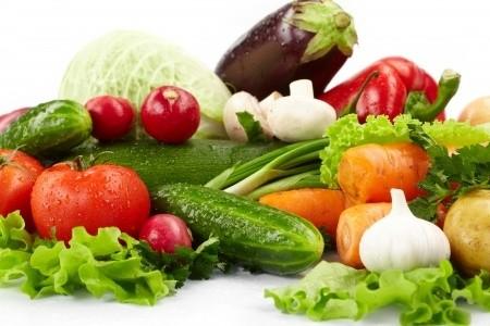 Помидоры, огурцы, лук, редис, капуста